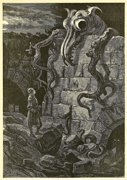 Dore, Gustave: The Gnarled Monster. (Illustration) Fine Art Print.  (003969)